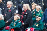 Remembrance Sunday at the Cenotaph 2015: Group B37, Women's Royal Army Corps Association. Cenotaph, Whitehall, London SW1, London, Greater London, United Kingdom, on 08 November 2015 at 11:43, image #282