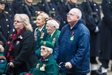 Remembrance Sunday at the Cenotaph 2015: Group B37, Women's Royal Army Corps Association. Cenotaph, Whitehall, London SW1, London, Greater London, United Kingdom, on 08 November 2015 at 11:43, image #283