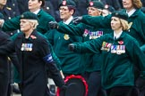 Remembrance Sunday at the Cenotaph 2015: Group B37, Women's Royal Army Corps Association. Cenotaph, Whitehall, London SW1, London, Greater London, United Kingdom, on 08 November 2015 at 11:43, image #287