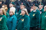 Remembrance Sunday at the Cenotaph 2015: Group B37, Women's Royal Army Corps Association. Cenotaph, Whitehall, London SW1, London, Greater London, United Kingdom, on 08 November 2015 at 11:43, image #296