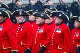 Remembrance Sunday at the Cenotaph 2015: Group B43, Royal Hospital Chelsea. Cenotaph, Whitehall, London SW1, London, Greater London, United Kingdom, on 08 November 2015 at 11:45, image #352