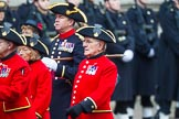 Remembrance Sunday at the Cenotaph 2015: Group B43, Royal Hospital Chelsea. Cenotaph, Whitehall, London SW1, London, Greater London, United Kingdom, on 08 November 2015 at 11:45, image #354