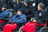 Remembrance Sunday at the Cenotaph 2015: Group B44, Queen Alexandra's Hospital Home for Disabled Ex-Servicemen & Women. Cenotaph, Whitehall, London SW1, London, Greater London, United Kingdom, on 08 November 2015 at 11:45, image #358