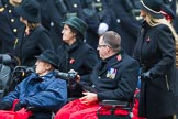Remembrance Sunday at the Cenotaph 2015: Group B44, Queen Alexandra's Hospital Home for Disabled Ex-Servicemen & Women. Cenotaph, Whitehall, London SW1, London, Greater London, United Kingdom, on 08 November 2015 at 11:45, image #359