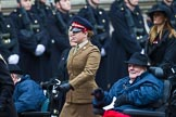 Remembrance Sunday at the Cenotaph 2015: Group B44, Queen Alexandra's Hospital Home for Disabled Ex-Servicemen & Women. Cenotaph, Whitehall, London SW1, London, Greater London, United Kingdom, on 08 November 2015 at 11:45, image #362