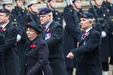 Remembrance Sunday at the Cenotaph 2015: Group B44, Queen Alexandra's Hospital Home for Disabled Ex-Servicemen & Women. Cenotaph, Whitehall, London SW1, London, Greater London, United Kingdom, on 08 November 2015 at 11:45, image #365