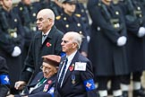 Remembrance Sunday at the Cenotaph 2015: Group B45, The Royal Star & Garter Homes. Cenotaph, Whitehall, London SW1, London, Greater London, United Kingdom, on 08 November 2015 at 11:45, image #372