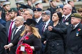 Remembrance Sunday at the Cenotaph 2015: Group B46, Combat Stress. Cenotaph, Whitehall, London SW1, London, Greater London, United Kingdom, on 08 November 2015 at 11:46, image #380