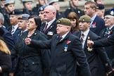 Remembrance Sunday at the Cenotaph 2015: Group B46, Combat Stress. Cenotaph, Whitehall, London SW1, London, Greater London, United Kingdom, on 08 November 2015 at 11:46, image #381