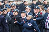 Remembrance Sunday at the Cenotaph 2015: Group C1, Royal Air Forces Association. Cenotaph, Whitehall, London SW1, London, Greater London, United Kingdom, on 08 November 2015 at 11:46, image #400