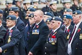 Remembrance Sunday at the Cenotaph 2015: C2, Royal Air Force Regiment Association. Cenotaph, Whitehall, London SW1, London, Greater London, United Kingdom, on 08 November 2015 at 11:47, image #421