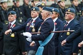 Remembrance Sunday at the Cenotaph 2015: C2, Royal Air Force Regiment Association. Cenotaph, Whitehall, London SW1, London, Greater London, United Kingdom, on 08 November 2015 at 11:47, image #427