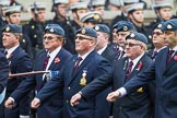 Remembrance Sunday at the Cenotaph 2015: C2, Royal Air Force Regiment Association. Cenotaph, Whitehall, London SW1, London, Greater London, United Kingdom, on 08 November 2015 at 11:47, image #428