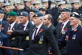 Remembrance Sunday at the Cenotaph 2015: C2, Royal Air Force Regiment Association. Cenotaph, Whitehall, London SW1, London, Greater London, United Kingdom, on 08 November 2015 at 11:47, image #431