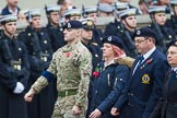 Remembrance Sunday at the Cenotaph 2015: Group C4, Royal Observer Corps Association (Anniversary). Cenotaph, Whitehall, London SW1, London, Greater London, United Kingdom, on 08 November 2015 at 11:47, image #441