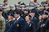 Remembrance Sunday at the Cenotaph 2015: Group C4, Royal Observer Corps Association (Anniversary). Cenotaph, Whitehall, London SW1, London, Greater London, United Kingdom, on 08 November 2015 at 11:47, image #442