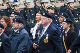 Remembrance Sunday at the Cenotaph 2015: Group C4, Royal Observer Corps Association (Anniversary). Cenotaph, Whitehall, London SW1, London, Greater London, United Kingdom, on 08 November 2015 at 11:48, image #451