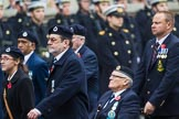 Remembrance Sunday at the Cenotaph 2015: Group C4, Royal Observer Corps Association (Anniversary). Cenotaph, Whitehall, London SW1, London, Greater London, United Kingdom, on 08 November 2015 at 11:48, image #453