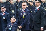 Remembrance Sunday at the Cenotaph 2015: Group C4, Royal Observer Corps Association (Anniversary). Cenotaph, Whitehall, London SW1, London, Greater London, United Kingdom, on 08 November 2015 at 11:48, image #454