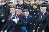 Remembrance Sunday at the Cenotaph 2015: Group C5, National Service (Royal Air Force) Association. Cenotaph, Whitehall, London SW1, London, Greater London, United Kingdom, on 08 November 2015 at 11:48, image #456