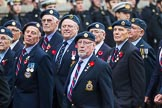 Remembrance Sunday at the Cenotaph 2015: Group C5, National Service (Royal Air Force) Association. Cenotaph, Whitehall, London SW1, London, Greater London, United Kingdom, on 08 November 2015 at 11:48, image #461
