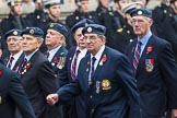 Remembrance Sunday at the Cenotaph 2015: Group C5, National Service (Royal Air Force) Association. Cenotaph, Whitehall, London SW1, London, Greater London, United Kingdom, on 08 November 2015 at 11:48, image #462
