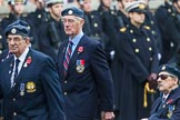 Remembrance Sunday at the Cenotaph 2015: Group C5, National Service (Royal Air Force) Association. Cenotaph, Whitehall, London SW1, London, Greater London, United Kingdom, on 08 November 2015 at 11:48, image #463