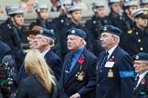 Remembrance Sunday at the Cenotaph 2015: Group C10, RAF Habbaniya Association. Cenotaph, Whitehall, London SW1, London, Greater London, United Kingdom, on 08 November 2015 at 11:48, image #481