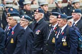 Remembrance Sunday at the Cenotaph 2015: Group C11, Royal Air Force & Defence Fire Services Association. Cenotaph, Whitehall, London SW1, London, Greater London, United Kingdom, on 08 November 2015 at 11:49, image #486