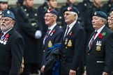 Remembrance Sunday at the Cenotaph 2015: Group C14, Royal Air Force Yatesbury Association. Cenotaph, Whitehall, London SW1, London, Greater London, United Kingdom, on 08 November 2015 at 11:49, image #503