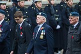 Remembrance Sunday at the Cenotaph 2015: Group C14, Royal Air Force Yatesbury Association. Cenotaph, Whitehall, London SW1, London, Greater London, United Kingdom, on 08 November 2015 at 11:49, image #507