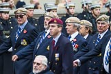 Remembrance Sunday at the Cenotaph 2015: Group C18, Royal Air Force Masirah & Salalah Veterans Association (New for 2015). Cenotaph, Whitehall, London SW1, London, Greater London, United Kingdom, on 08 November 2015 at 11:49, image #525