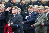 Remembrance Sunday at the Cenotaph 2015: Group C18, Royal Air Force Masirah & Salalah Veterans Association (New for 2015). Cenotaph, Whitehall, London SW1, London, Greater London, United Kingdom, on 08 November 2015 at 11:49, image #527