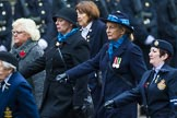 Remembrance Sunday at the Cenotaph 2015: Group C19, WAAF/WRAF/RAF(W). Cenotaph, Whitehall, London SW1, London, Greater London, United Kingdom, on 08 November 2015 at 11:50, image #539