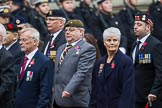 Remembrance Sunday at the Cenotaph 2015: Group D2, Stoll. Cenotaph, Whitehall, London SW1, London, Greater London, United Kingdom, on 08 November 2015 at 11:51, image #589