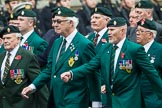 Remembrance Sunday at the Cenotaph 2015: Group D3, Ulster Defence Regiment. Cenotaph, Whitehall, London SW1, London, Greater London, United Kingdom, on 08 November 2015 at 11:51, image #598