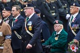 Remembrance Sunday at the Cenotaph 2015: Group D4, Army Dog Unit Northern Ireland Association. Cenotaph, Whitehall, London SW1, London, Greater London, United Kingdom, on 08 November 2015 at 11:52, image #609