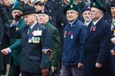 Remembrance Sunday at the Cenotaph 2015: Group D5, North Irish Horse & Irish Regiments Old Comrades Association. Cenotaph, Whitehall, London SW1, London, Greater London, United Kingdom, on 08 November 2015 at 11:52, image #611