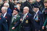 Remembrance Sunday at the Cenotaph 2015: Group D5, North Irish Horse & Irish Regiments Old Comrades Association. Cenotaph, Whitehall, London SW1, London, Greater London, United Kingdom, on 08 November 2015 at 11:52, image #614