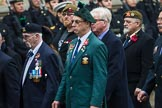 Remembrance Sunday at the Cenotaph 2015: Group D5, North Irish Horse & Irish Regiments Old Comrades Association. Cenotaph, Whitehall, London SW1, London, Greater London, United Kingdom, on 08 November 2015 at 11:52, image #615