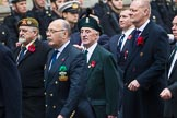 Remembrance Sunday at the Cenotaph 2015: Group D5, North Irish Horse & Irish Regiments Old Comrades Association. Cenotaph, Whitehall, London SW1, London, Greater London, United Kingdom, on 08 November 2015 at 11:52, image #616