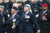 Remembrance Sunday at the Cenotaph 2015: Group D6, Northern Ireland Veterans' Association. Cenotaph, Whitehall, London SW1, London, Greater London, United Kingdom, on 08 November 2015 at 11:52, image #620