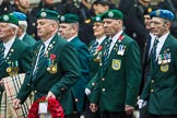 Remembrance Sunday at the Cenotaph 2015: Group D7, Irish United Nations Veterans Association. Cenotaph, Whitehall, London SW1, London, Greater London, United Kingdom, on 08 November 2015 at 11:52, image #623
