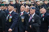 Remembrance Sunday at the Cenotaph 2015: Group D10, South Atlantic Medal Association. Cenotaph, Whitehall, London SW1, London, Greater London, United Kingdom, on 08 November 2015 at 11:53, image #633