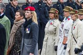 Remembrance Sunday at the Cenotaph 2015: Group D12, First Aid Nursing Yeomanry (Princess Royal's Volunteers Corps). Cenotaph, Whitehall, London SW1, London, Greater London, United Kingdom, on 08 November 2015 at 11:53, image #642