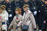 Remembrance Sunday at the Cenotaph 2015: Group D12, First Aid Nursing Yeomanry (Princess Royal's Volunteers Corps). Cenotaph, Whitehall, London SW1, London, Greater London, United Kingdom, on 08 November 2015 at 11:53, image #644