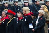 Remembrance Sunday at the Cenotaph 2015: Group D15, War Widows Association. Cenotaph, Whitehall, London SW1, London, Greater London, United Kingdom, on 08 November 2015 at 11:53, image #657