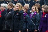 Remembrance Sunday at the Cenotaph 2015: Group D15, War Widows Association. Cenotaph, Whitehall, London SW1, London, Greater London, United Kingdom, on 08 November 2015 at 11:54, image #659