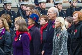 Remembrance Sunday at the Cenotaph 2015: Group D15, War Widows Association. Cenotaph, Whitehall, London SW1, London, Greater London, United Kingdom, on 08 November 2015 at 11:54, image #660