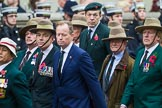 Remembrance Sunday at the Cenotaph 2015: Group D16, Gurkha Brigade Association. Cenotaph, Whitehall, London SW1, London, Greater London, United Kingdom, on 08 November 2015 at 11:54, image #682